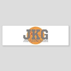 Just Keep Going Basketball Gray Bumper Sticker