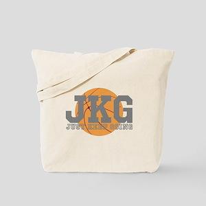 Just Keep Going Basketball Gray Tote Bag