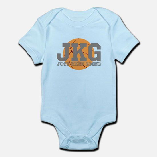 Just Keep Going Basketball Gray Body Suit