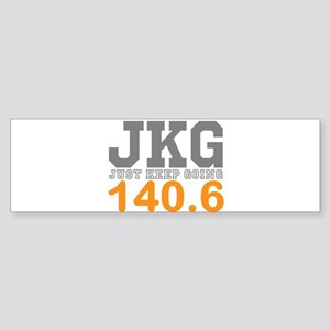 Just Keep Going 140.6 Bumper Sticker
