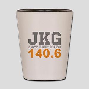Just Keep Going 140.6 Shot Glass
