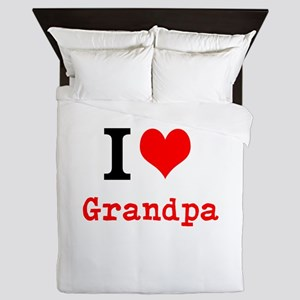 I Love Grandpa Queen Duvet