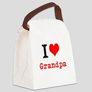 I Love Grandpa Canvas Lunch Bag