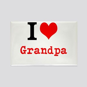 I Love Grandpa Magnets