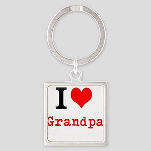I Love Grandpa Keychains