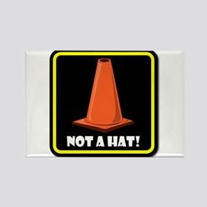 NOT A HAT! BLACK SIGN 2 Magnets