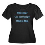 Bad Day Therapy Women's Plus Size Scoop Neck Dark