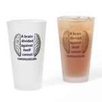 Divided Brain Drinking Glass