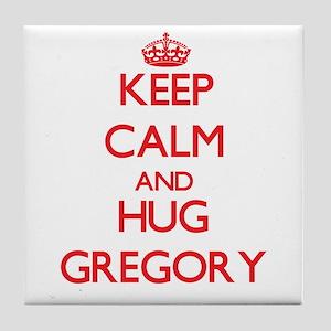 Keep calm and Hug Gregory Tile Coaster