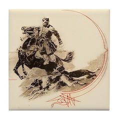 Horseman Borzoi Tile Coaster