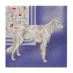 Holiday Borzoi Tile Coaster