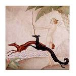 Art Deco Borzoi Diana Tile Coaster