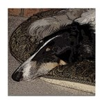 Sleeping Borzoi Tile Coaster
