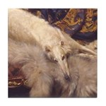 Borzoi Lounging Tile Coaster
