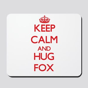Keep calm and Hug Fox Mousepad
