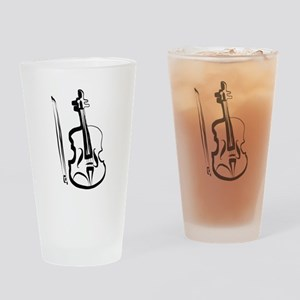 Viola and Bow by LH Drinking Glass