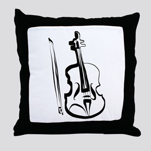 Viola or Violin and Bow by LH Throw Pillow