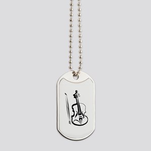 Viola or Violin and Bow by LH Dog Tags