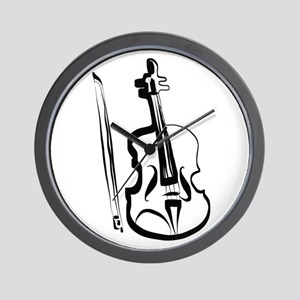 Viola or Violin and Bow by LH Wall Clock