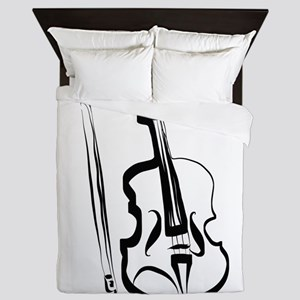 Viola or Violin and Bow by LH Queen Duvet