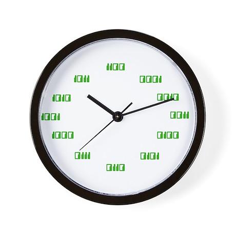Binary Code Clock Wall Clock