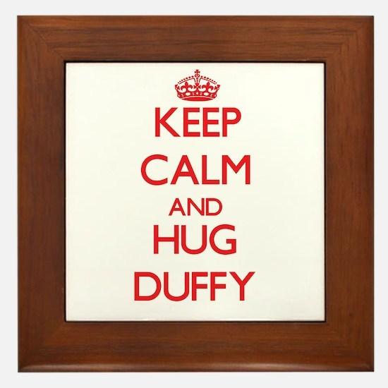 Keep calm and Hug Duffy Framed Tile