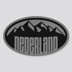 Nederland Mountains Sticker (Oval)