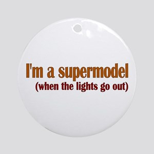 Supermodel Ornament (Round)