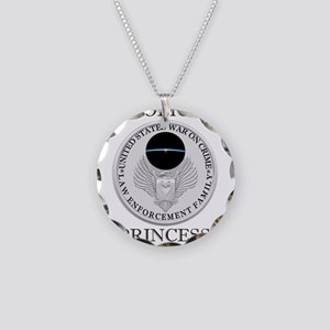 Police Princess Jewelry Family Motif Necklace