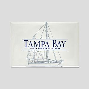 Tampa Bay - Rectangle Magnet