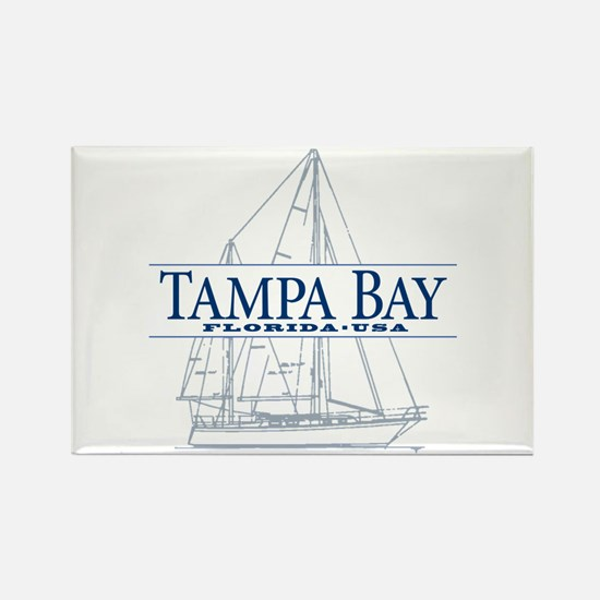 Tampa Bay - Rectangle Magnet