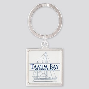 Tampa Bay - Square Keychain
