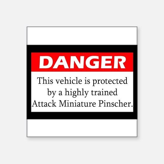 Attack Miniature Pinscher Sticker