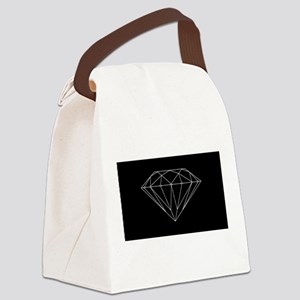 Diamond black Canvas Lunch Bag