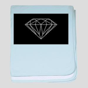 Diamond black baby blanket