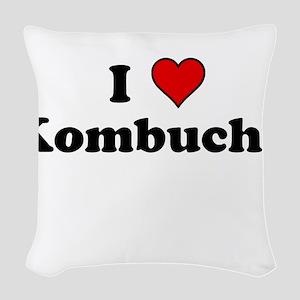 I Heart Kombucha Woven Throw Pillow