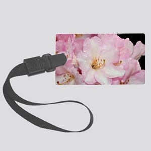 PInk and white rhododendrons Large Luggage Tag
