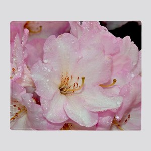 PInk and white rhododendrons Throw Blanket