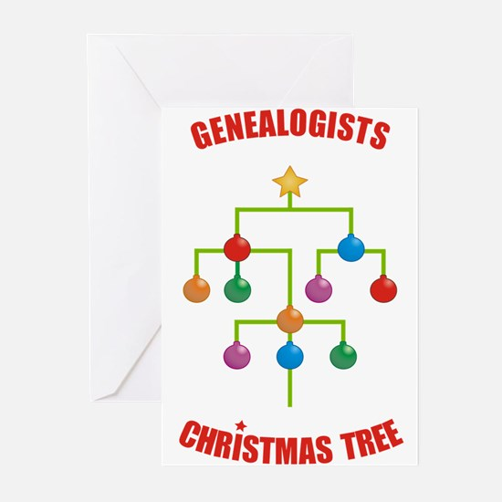 Genealogists Christmas Tree Cards (x10) Greeting C