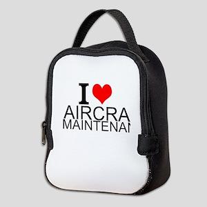 I Love Aircraft Maintenance Neoprene Lunch Bag