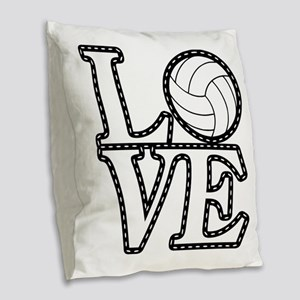 Love Vollebyabll Burlap Throw Pillow