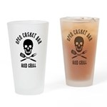 Open Casket Bar And Grill - Drinking Glass