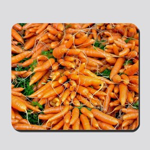 Bunches of fresh carrots Mousepad