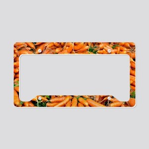 Bunches of fresh carrots License Plate Holder