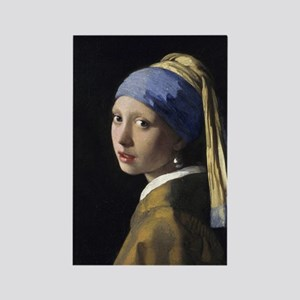 Jan Vermeer Girl With A Pearl Ear Rectangle Magnet