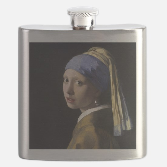 Jan Vermeer Girl With A Pearl Earring Flask