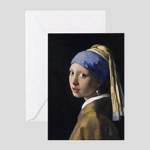 Jan Vermeer Girl With A Pearl Earrin Greeting Card