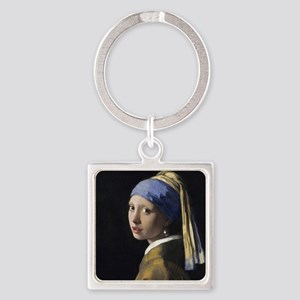 Jan Vermeer Girl With A Pearl Earr Square Keychain
