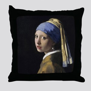 Jan Vermeer Girl With A Pearl Earring Throw Pillow