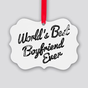 Worlds best boyfriend Ornament